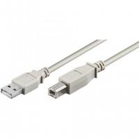 Кабел за принтер DeTech USB A - USB B, High Quality, 5.0m